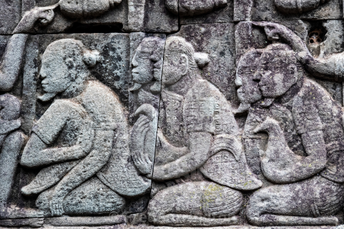"""Detail Angkor Thom (Chinese Soldiers)"" stock image"