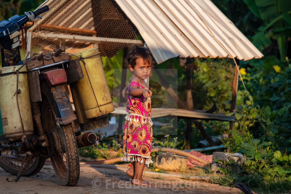 """Young Child, Tonle Sap"" stock image"