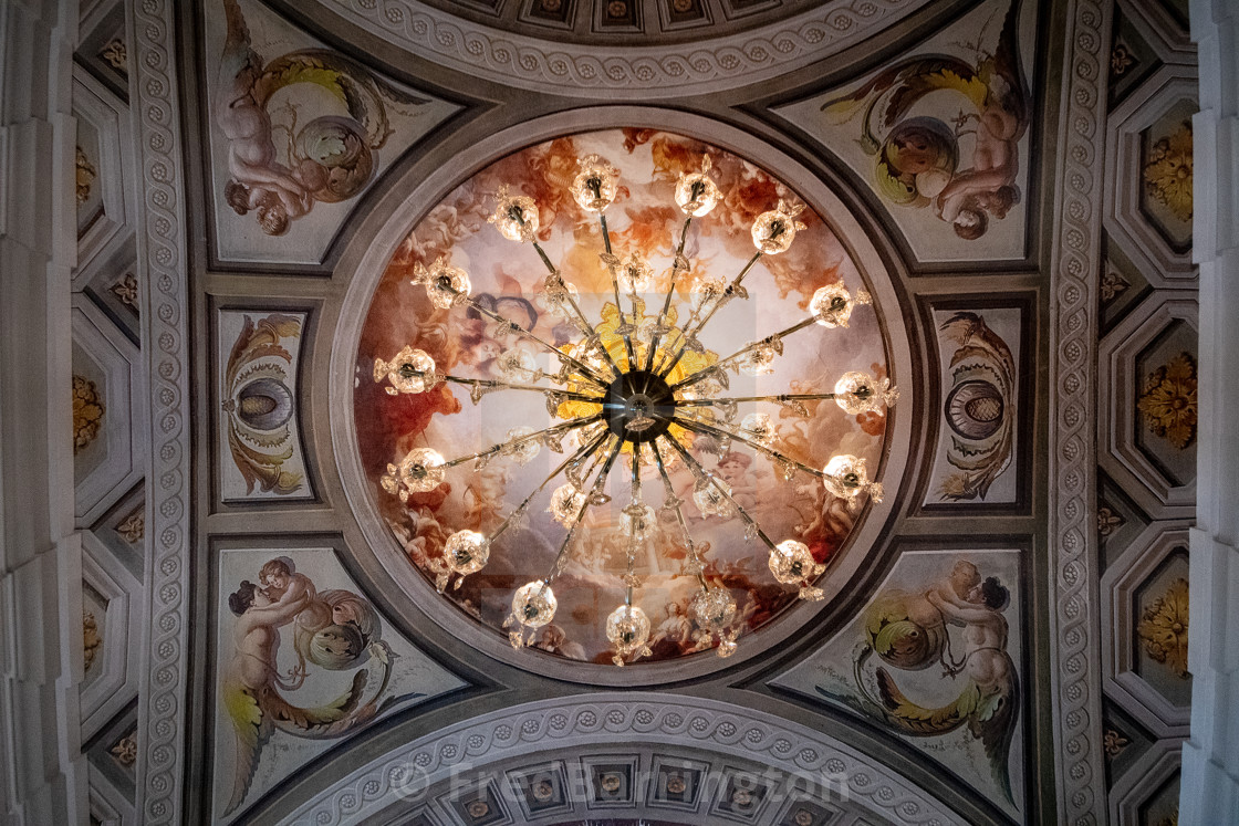 """Cyclo Tour - Palais de Poste - Ceiling"" stock image"