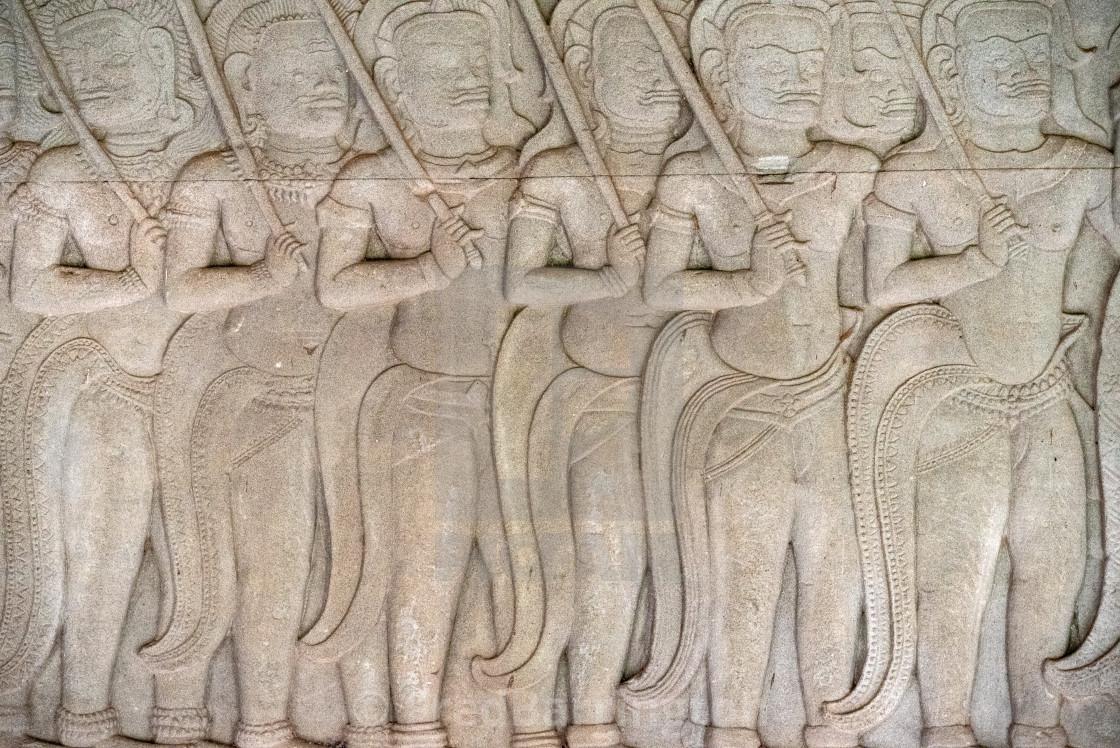 """""""Detail - Angkor Thom"""" stock image"""