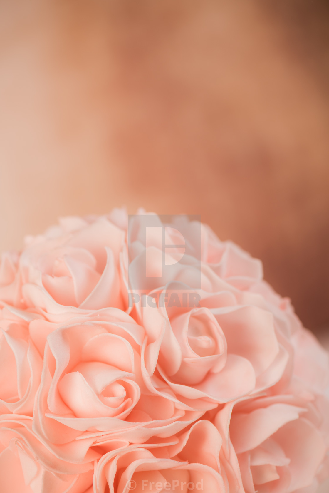 """Valentine's setting with bouquet of roses"" stock image"