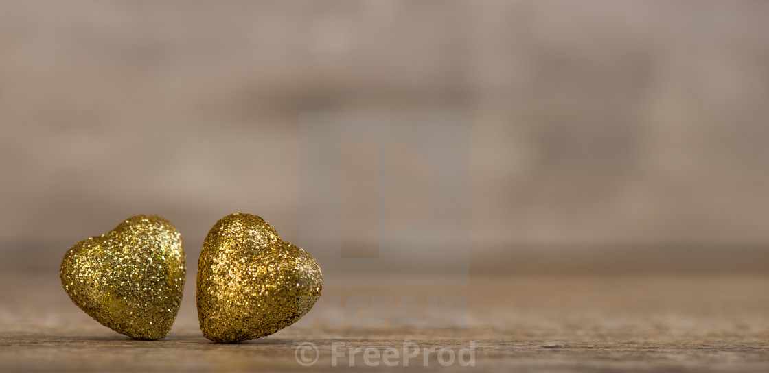 """""""Love hearts on wooden texture background for Valentines Day Background"""" stock image"""