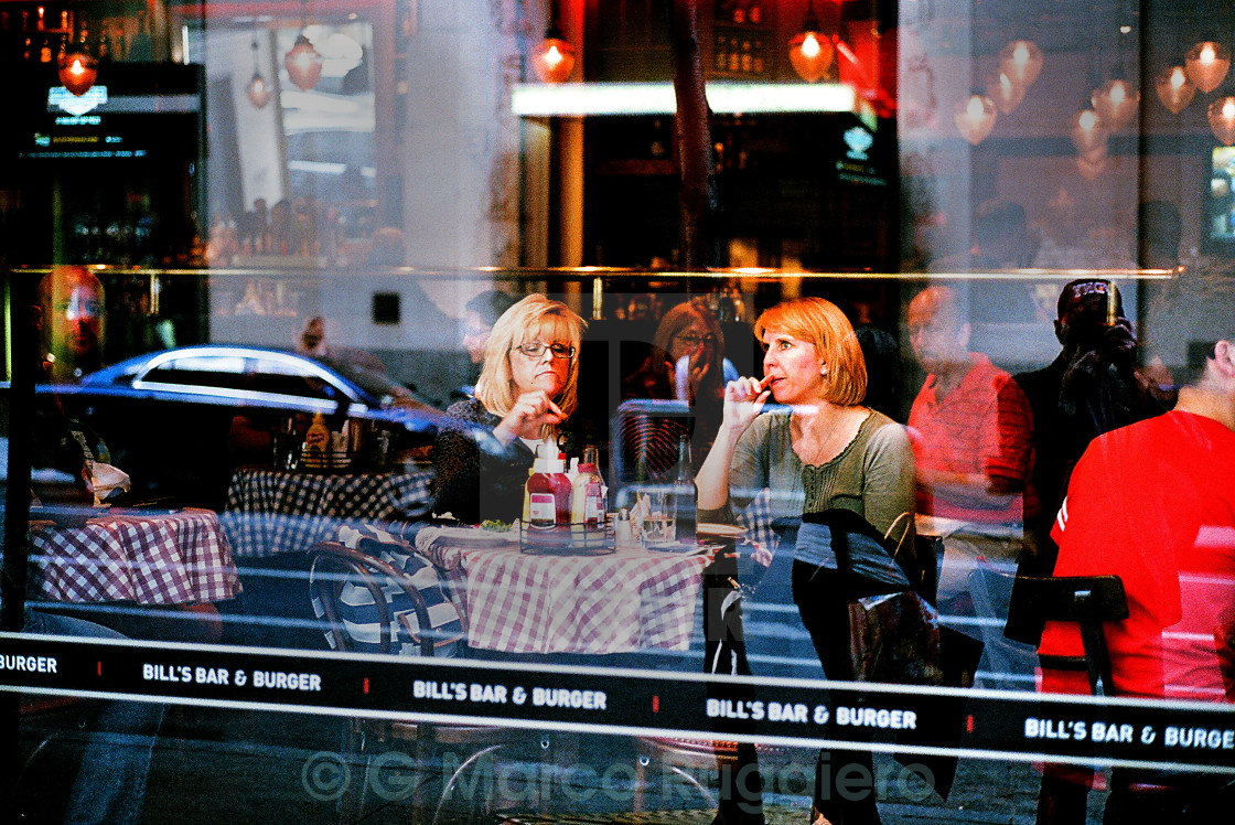 """Lunch on 54th."" stock image"