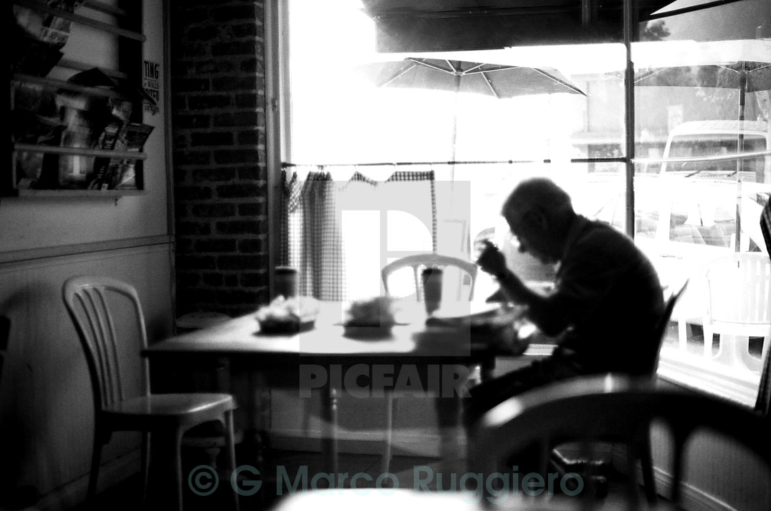 """COFFEE IN SIERRA MADRE"" stock image"