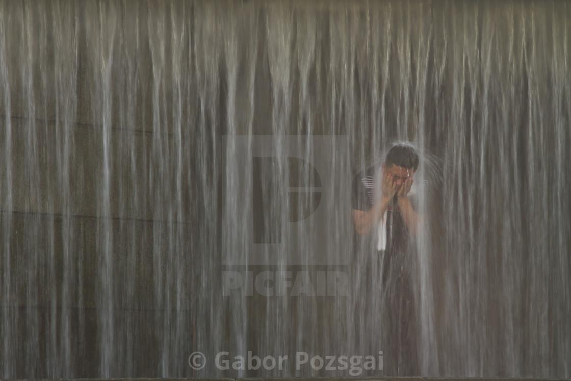 """Shower, Seoul, Korea"" stock image"