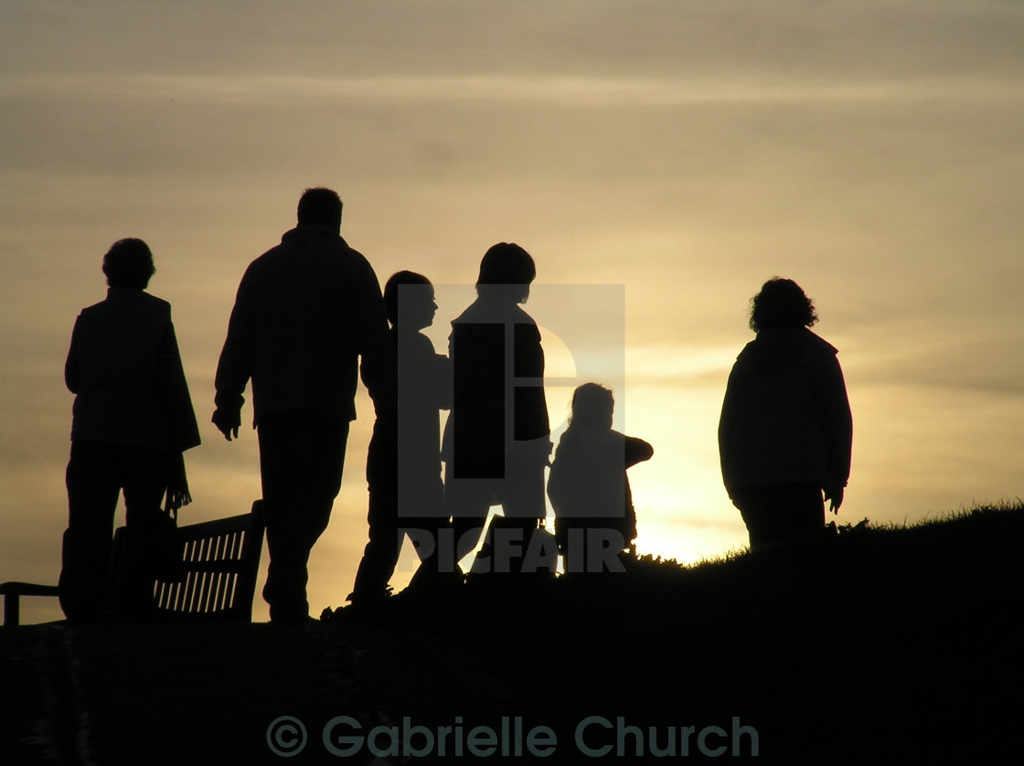 """silhouette of people"" stock image"