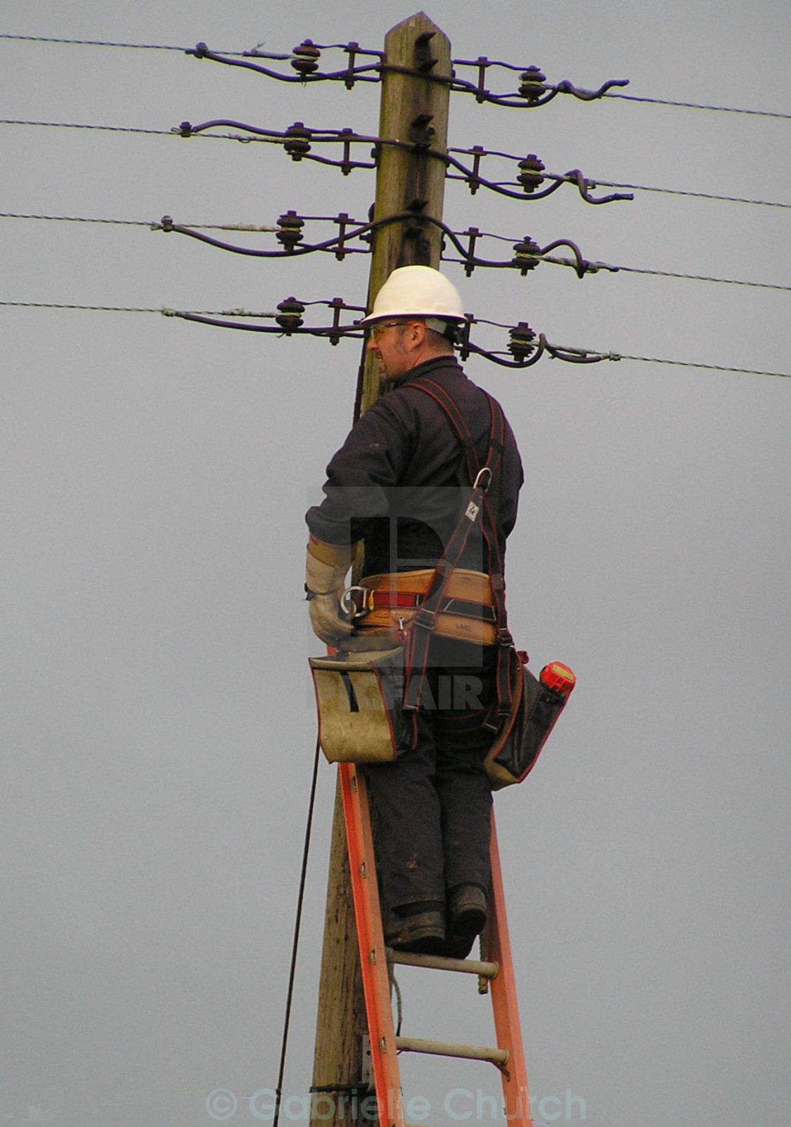 """mending electric cables"" stock image"