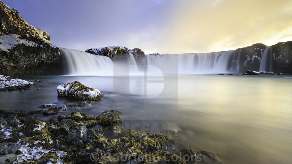 """Waterfall of the Gods"" stock image"
