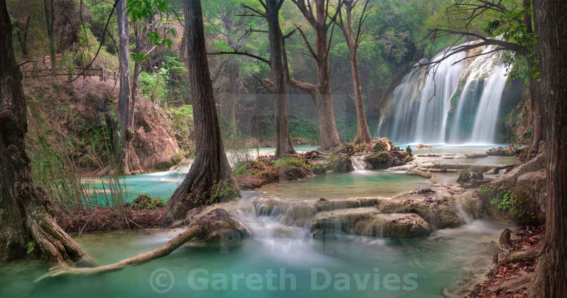 """A beautiful waterfall in the state of Chiapas in Mexico"" stock image"
