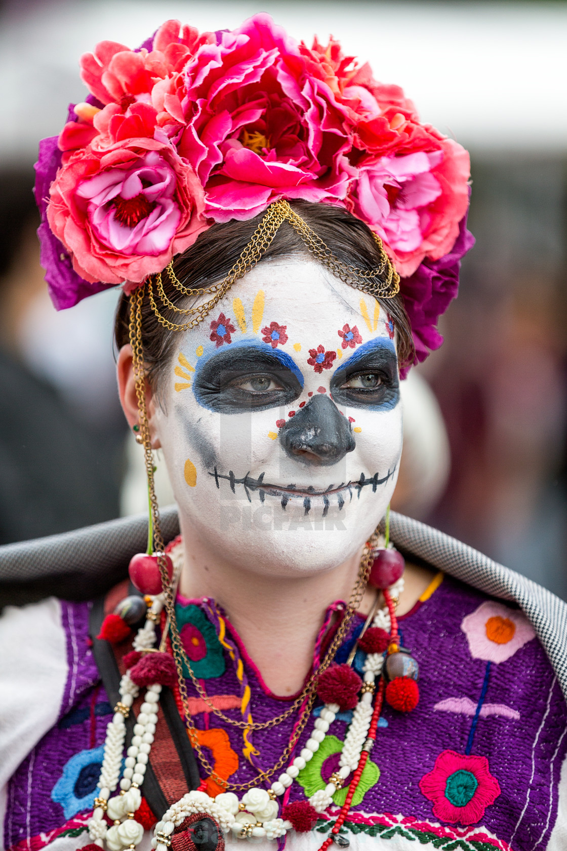 """Elegant Catalina, in mexico city on day of the dead"" stock image"