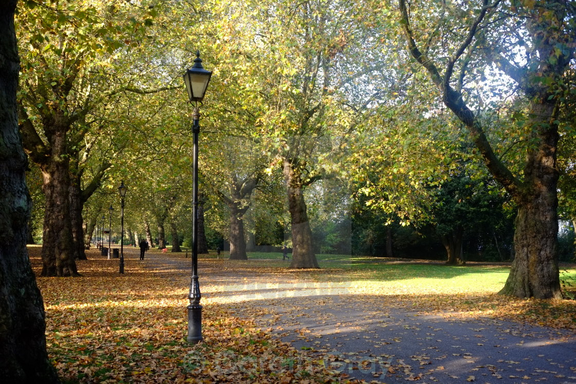 """Autumn in Battersea Park"" stock image"
