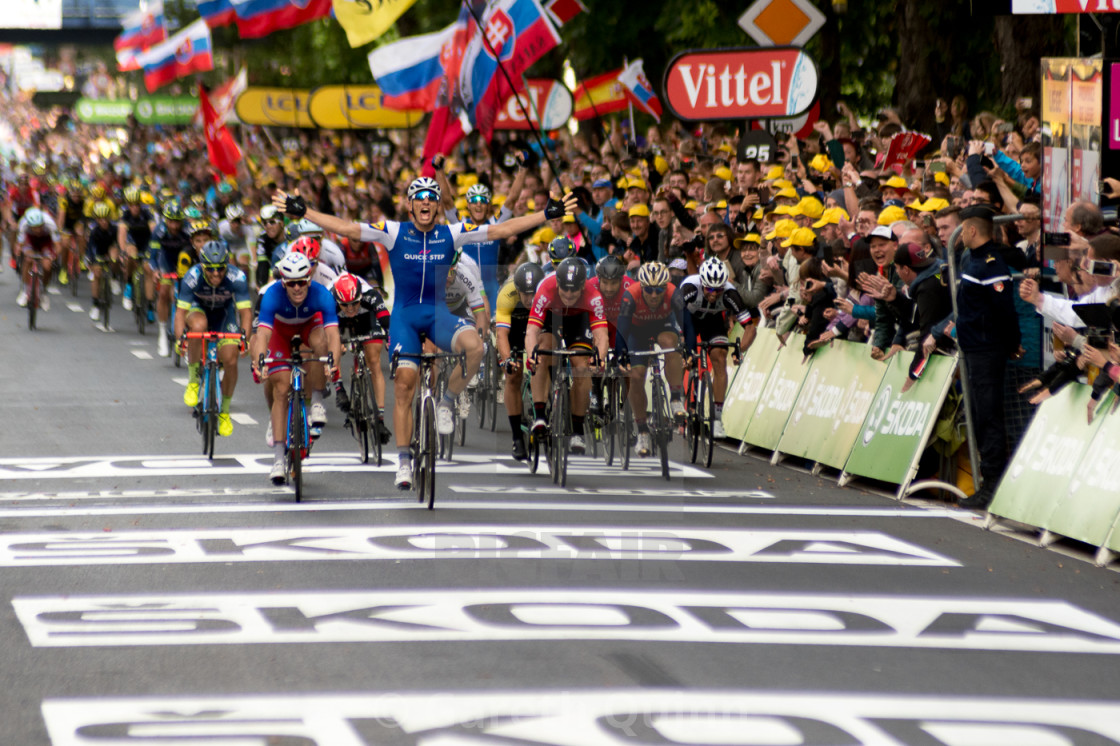 """Winner Stage 2 Tour de France"" stock image"