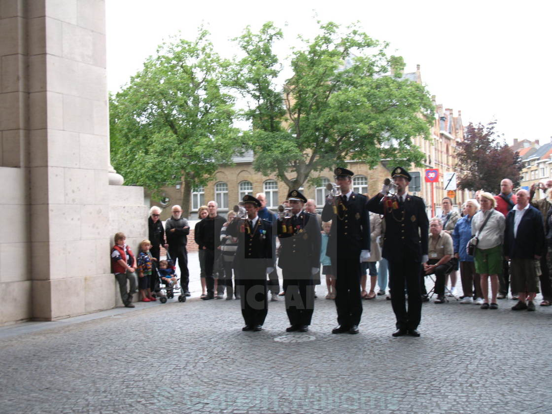 """Last Post at Ypres"" stock image"