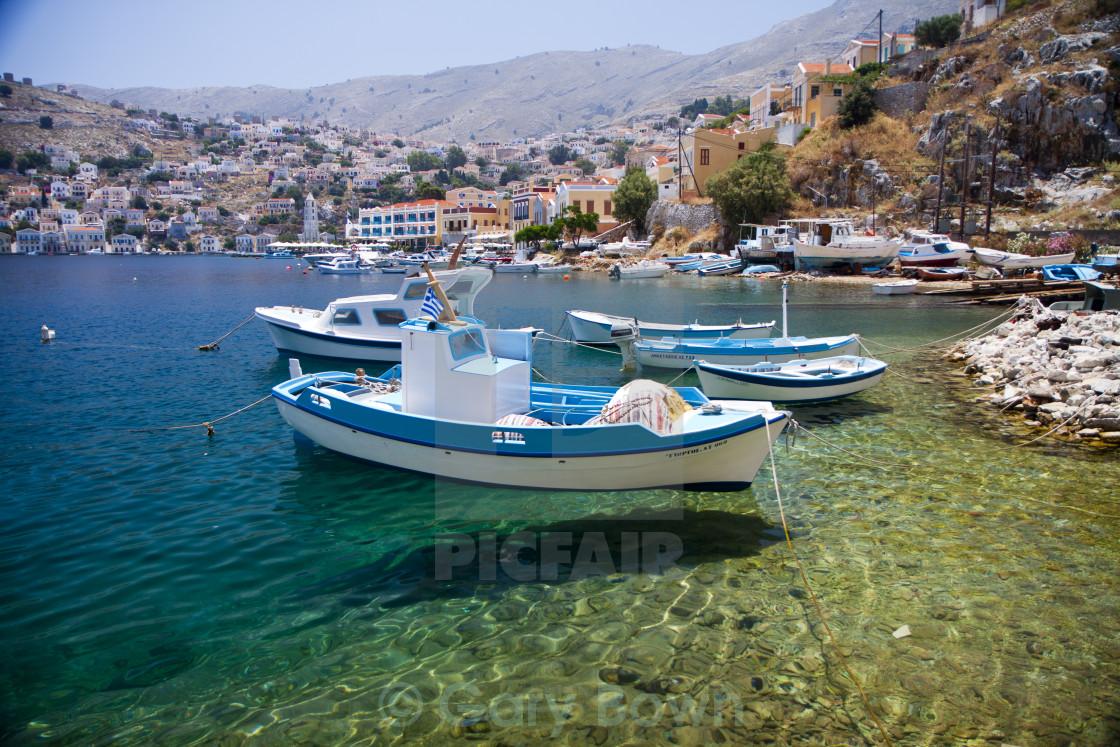 """""""Symi Fishing Boat"""" stock image"""