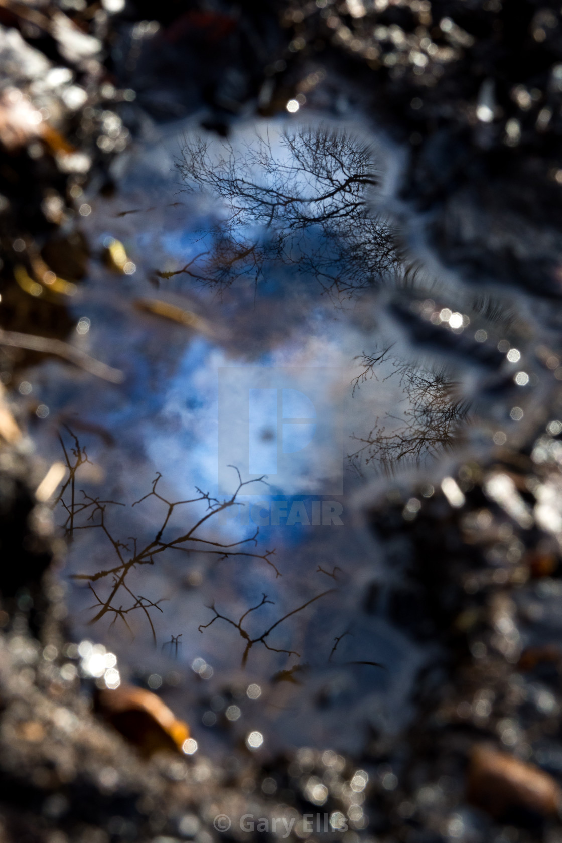 """Fuel Spill Reflection"" stock image"