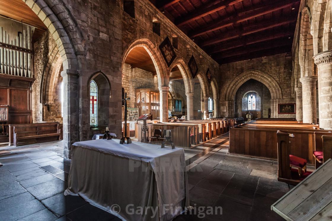 """St Aidans church"" stock image"