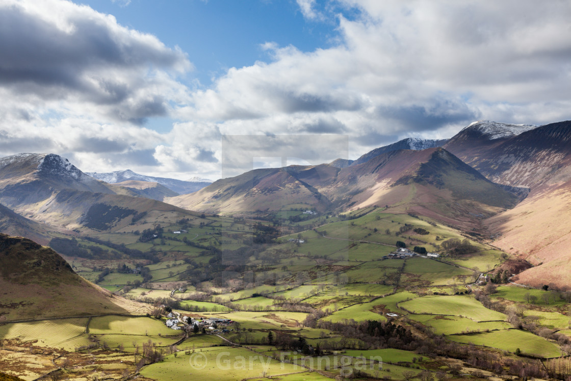 """""""Newlands Valley"""" stock image"""
