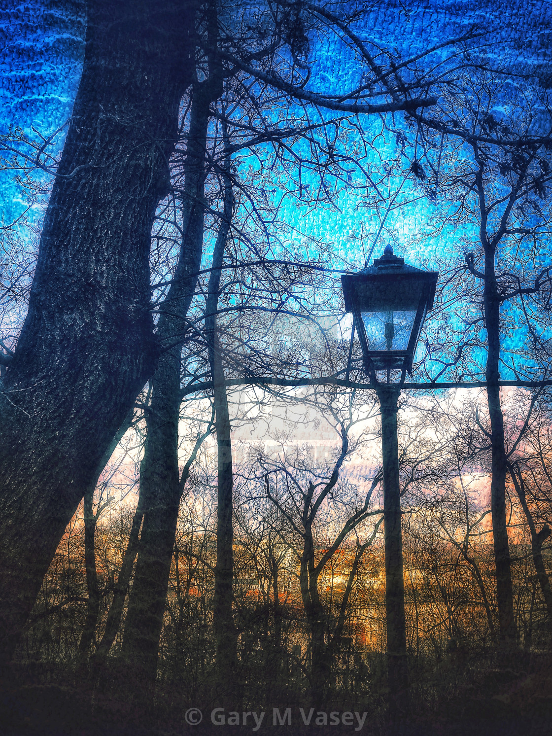 """Lamp in the Park"" stock image"