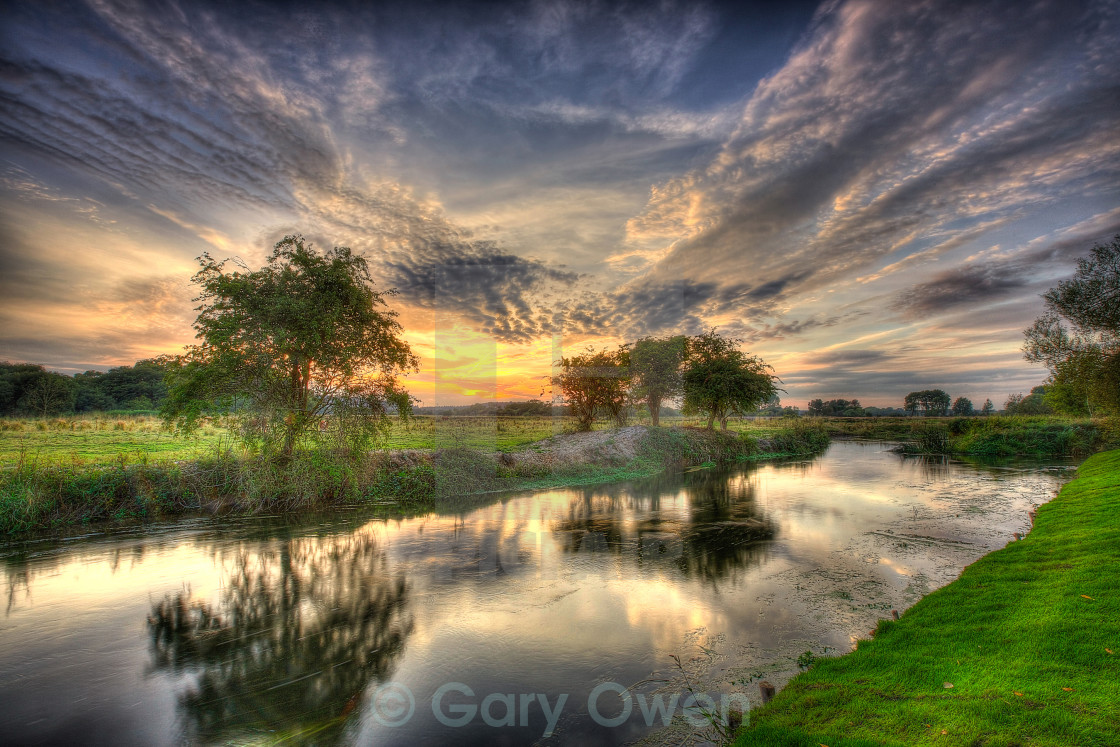 """River at Dusk"" stock image"