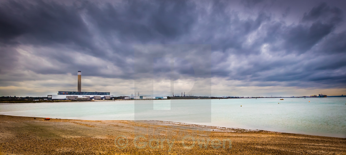 """Storm over Fawley"" stock image"