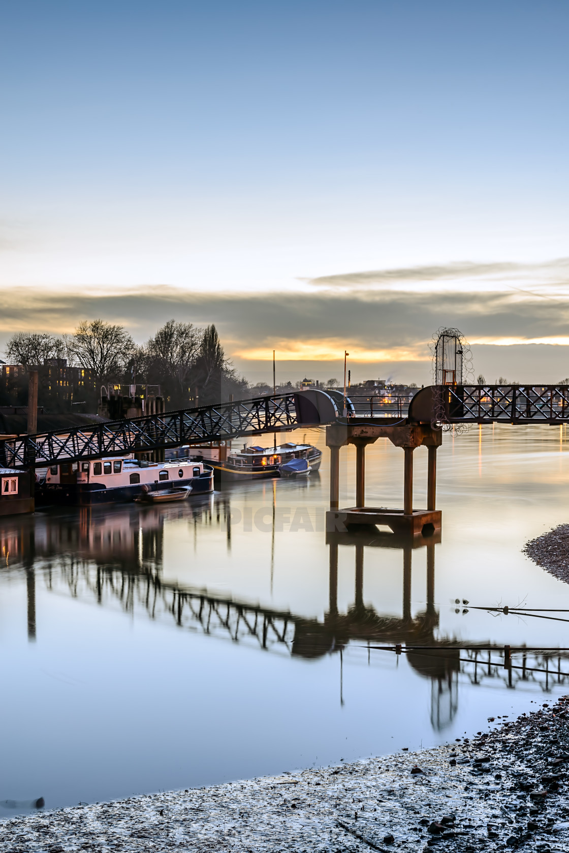 """Hammersmith Riverside"" stock image"