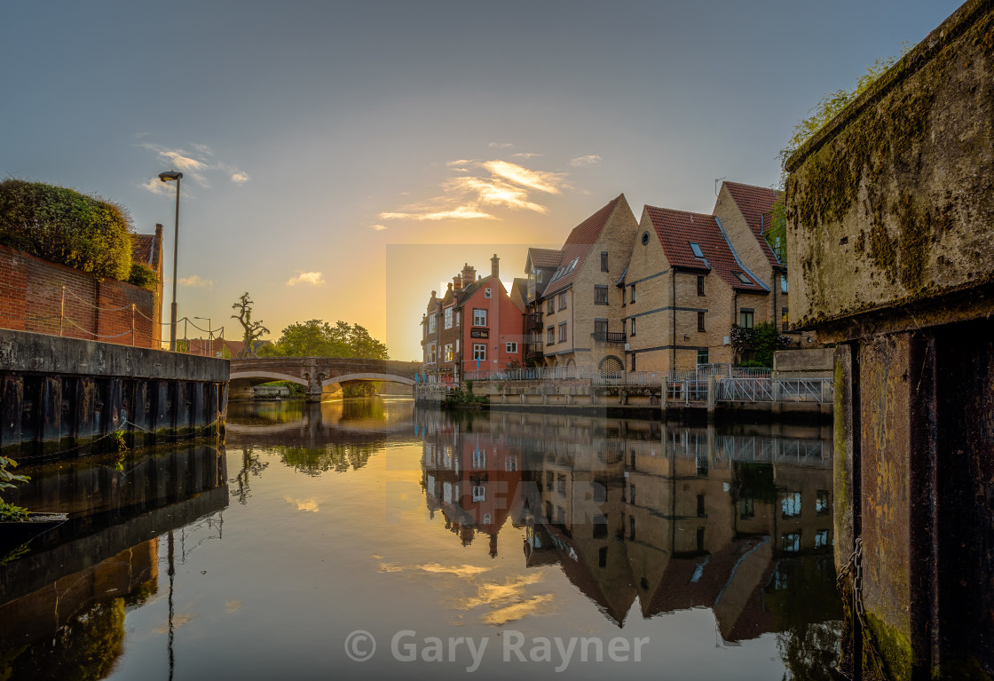 """Norwich Sunrise"" stock image"