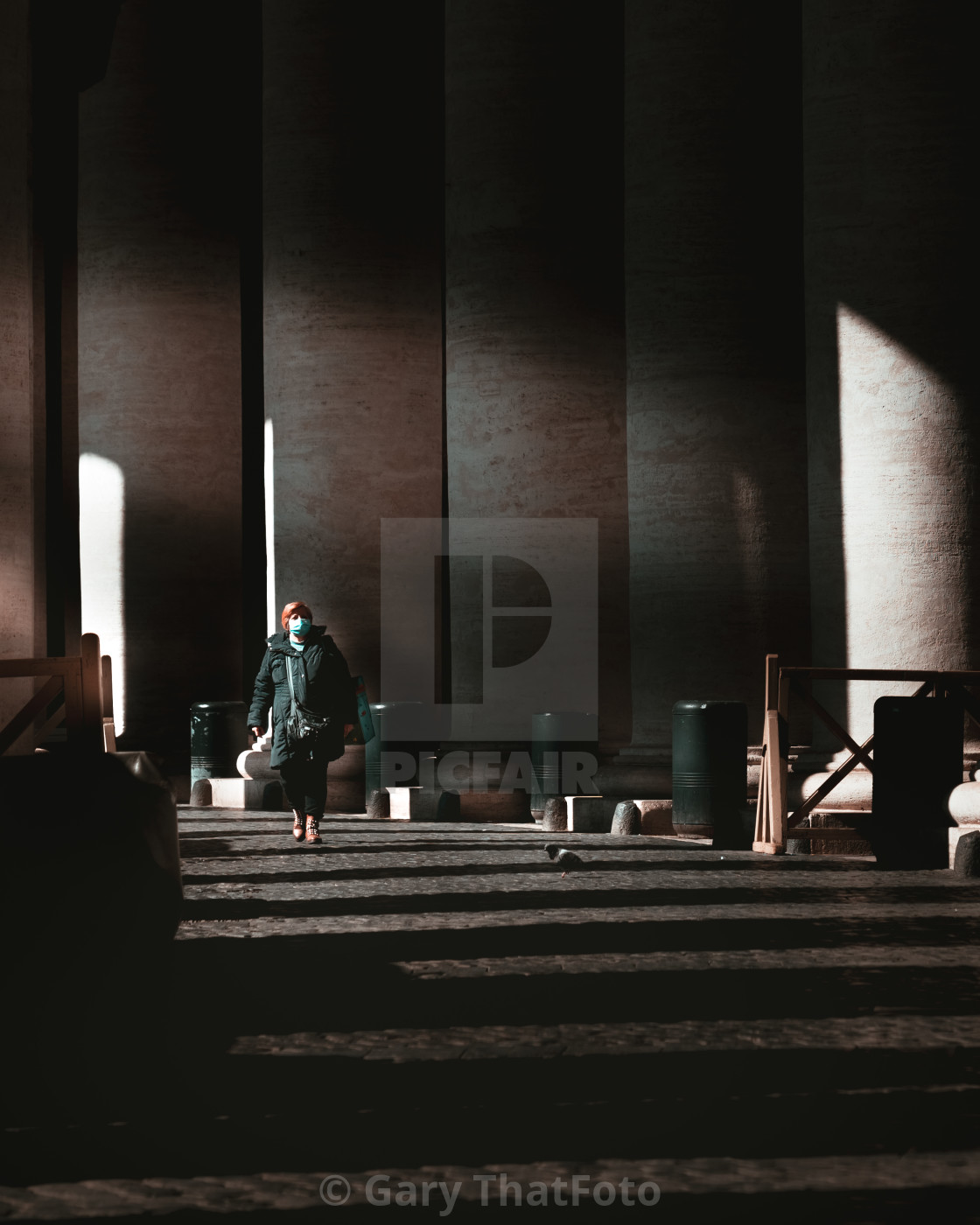 """Vatican CIty day before Italy Lockdown COVID-19 10th March 2020"" stock image"