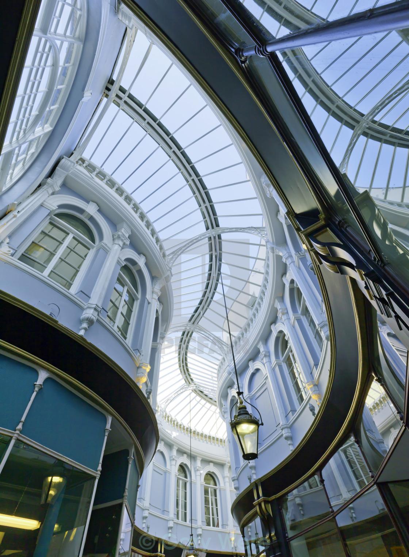 """Morgan Arcade, Cardiff"" stock image"