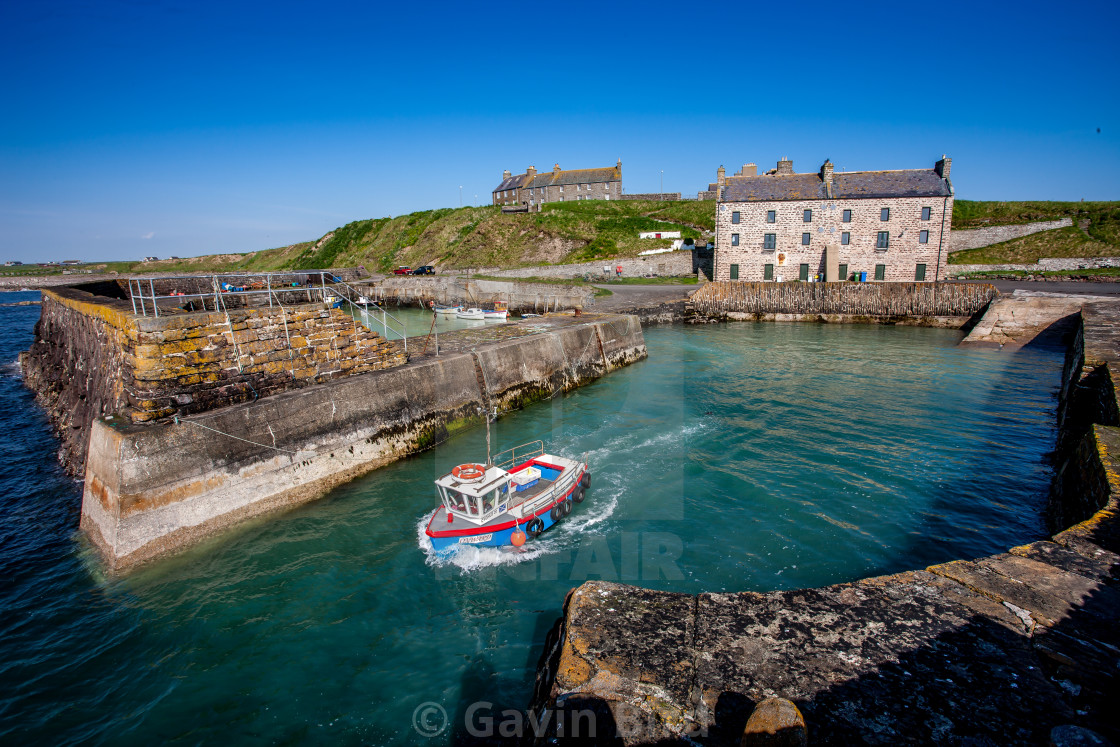 """""""Keiss harbour"""" stock image"""