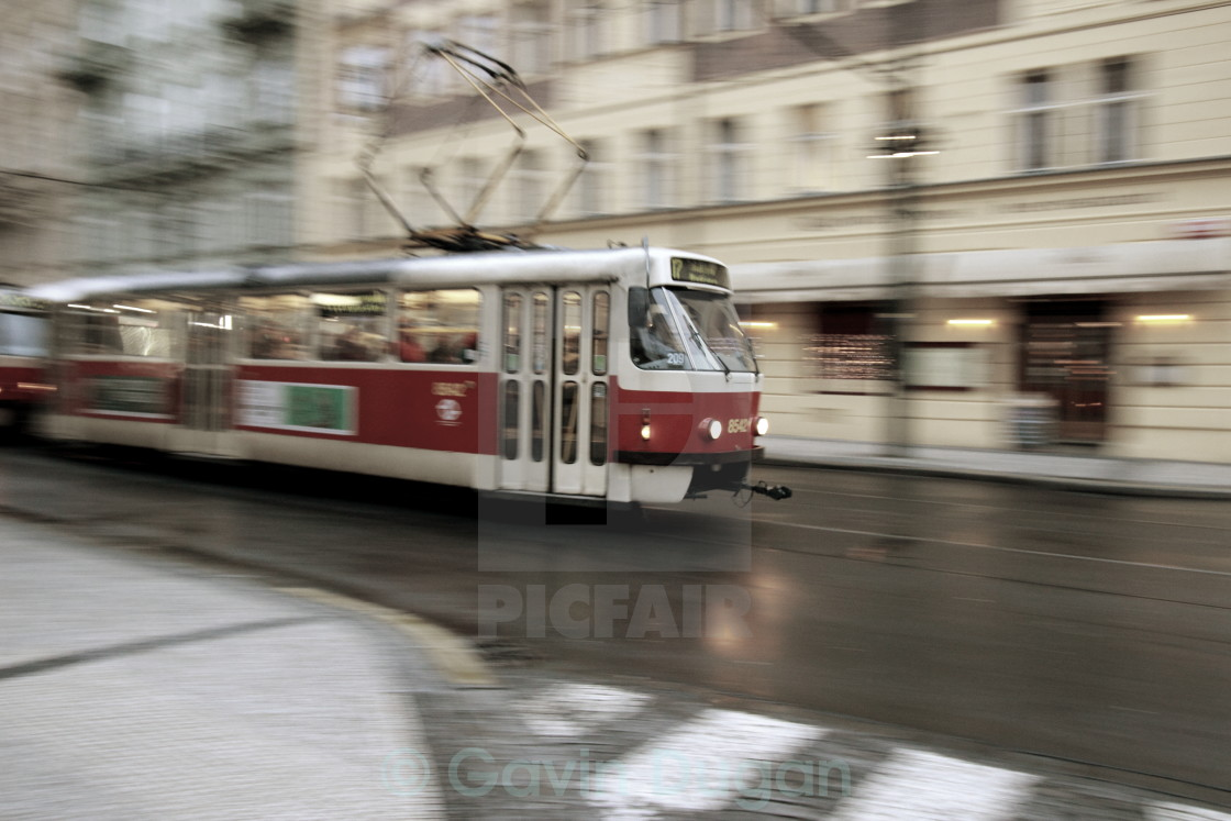 """Prague tram"" stock image"