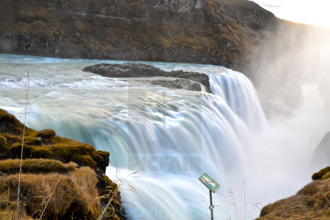 """Gullfoss Waterfall"" stock image"