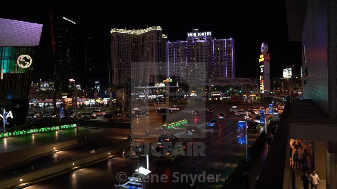 """low light in Vegas"" stock image"