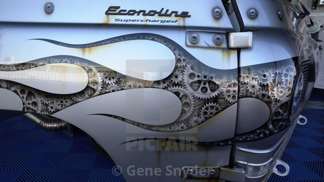 """cars at sema"" stock image"