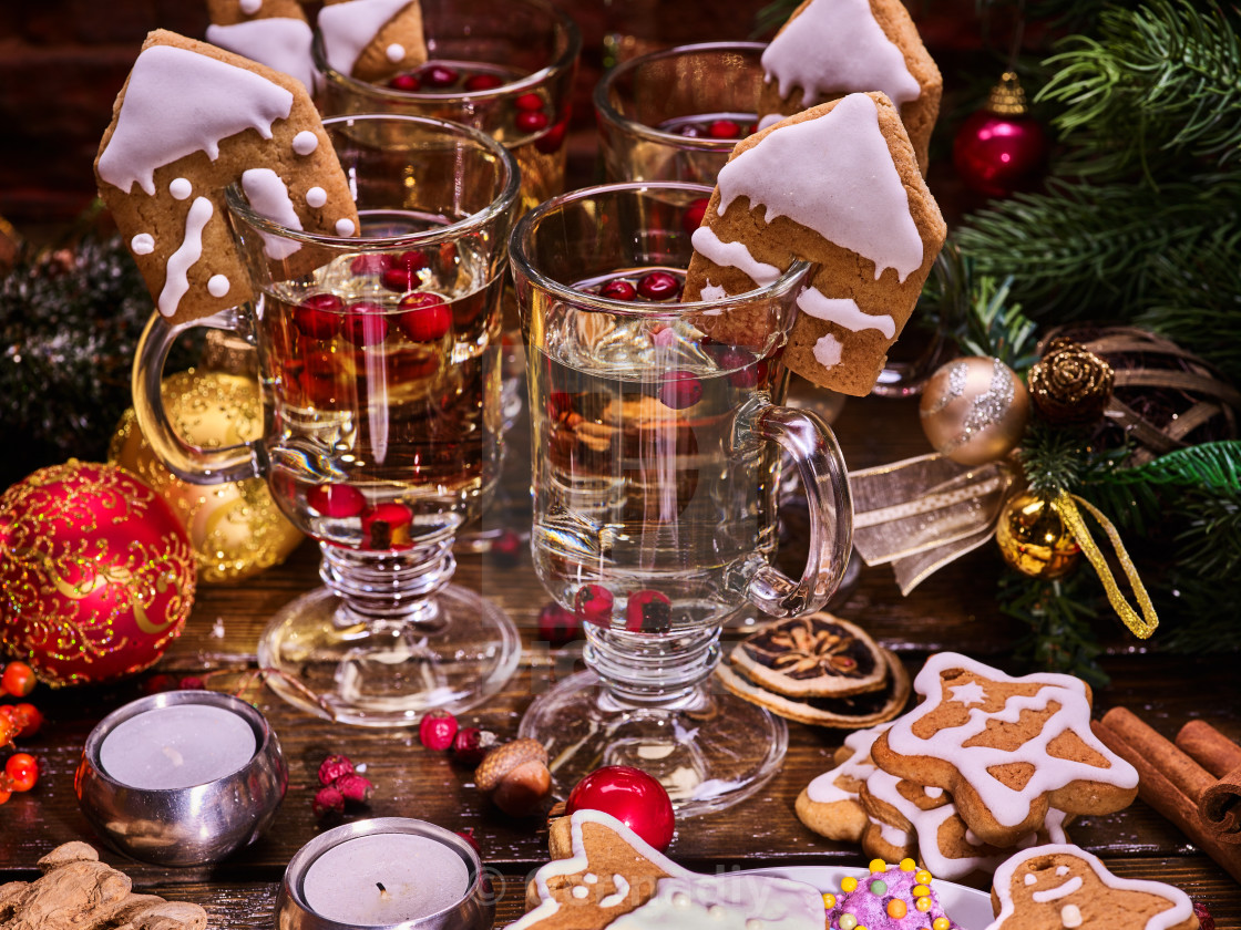 Mulled Wine With Christmas Cookies License Download Or Print For