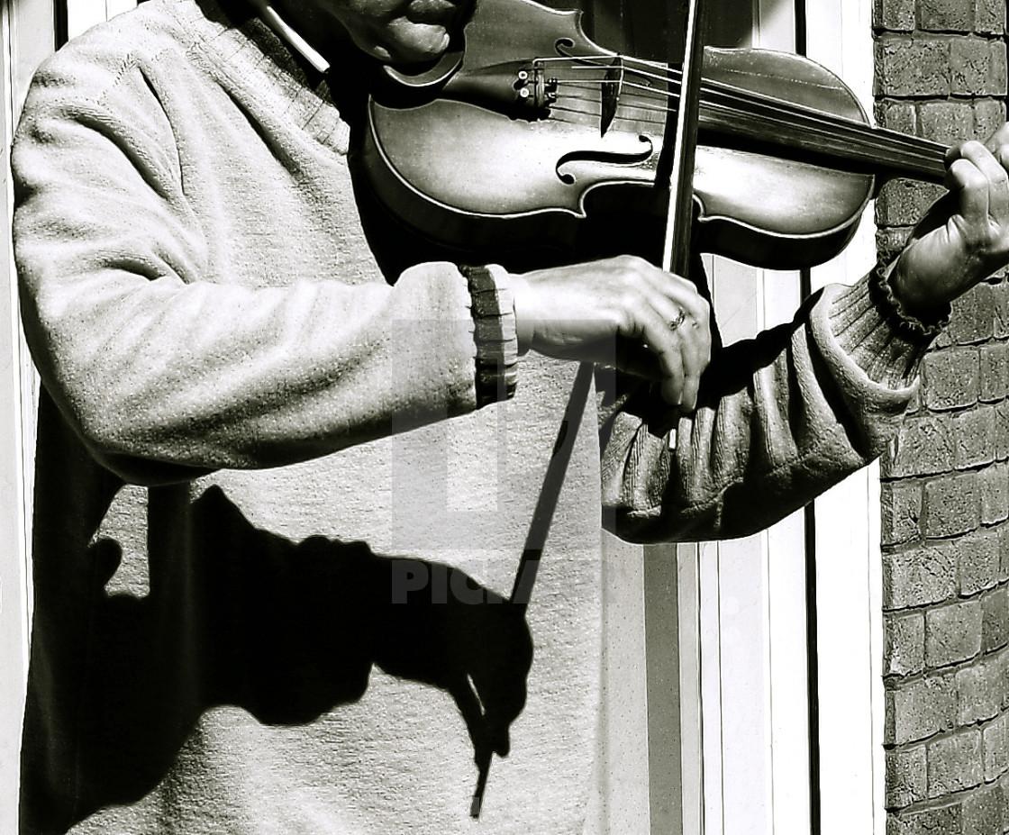 """Violin Player"" stock image"