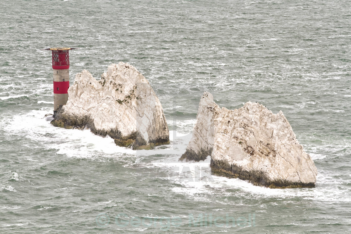 """The Needles, Isle of Wight"" stock image"