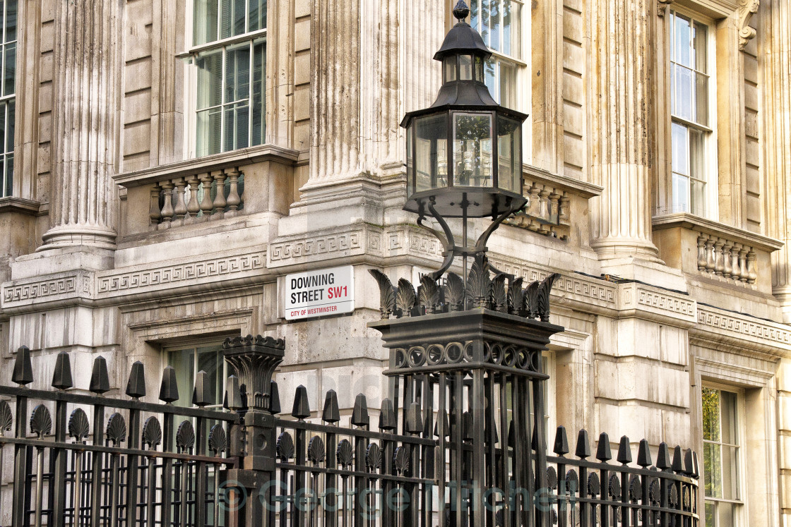 """Downing Street, Whitehall, City of London"" stock image"