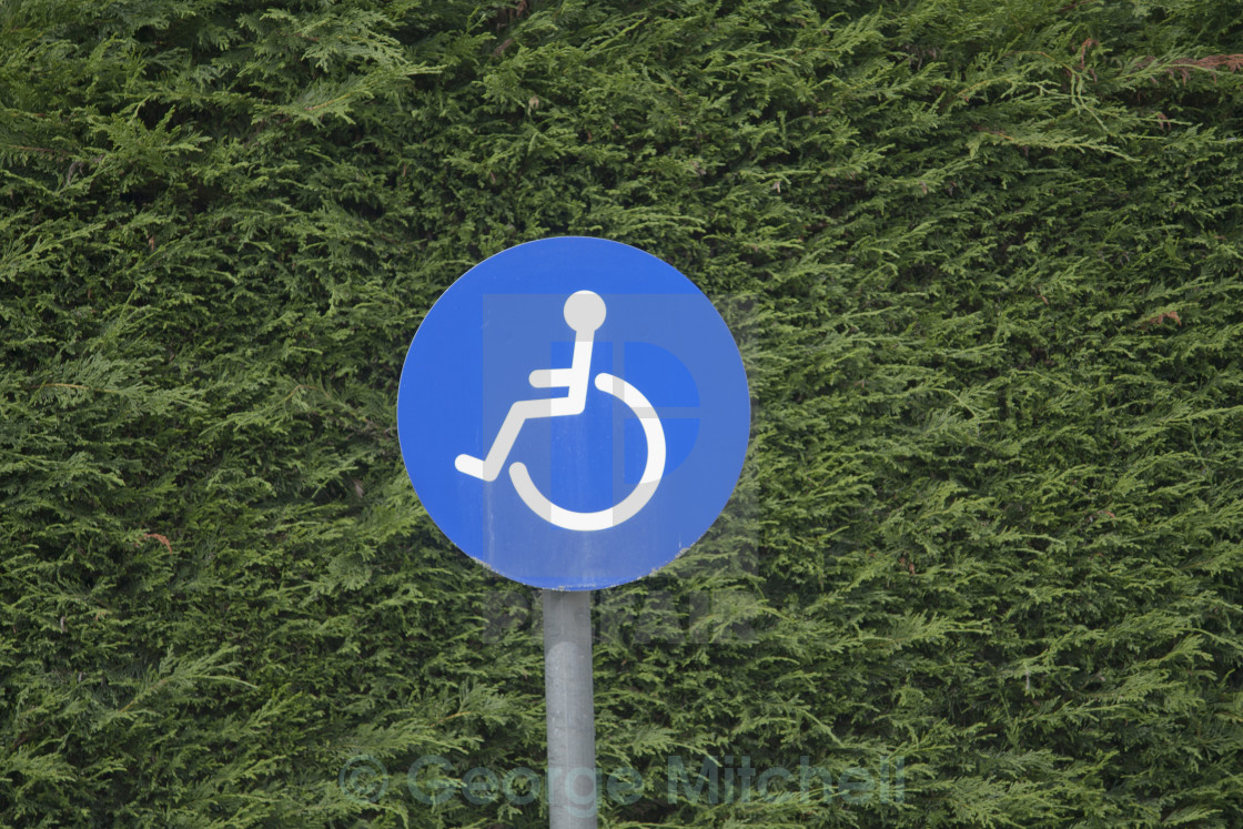 """Parking sign for disabled"" stock image"