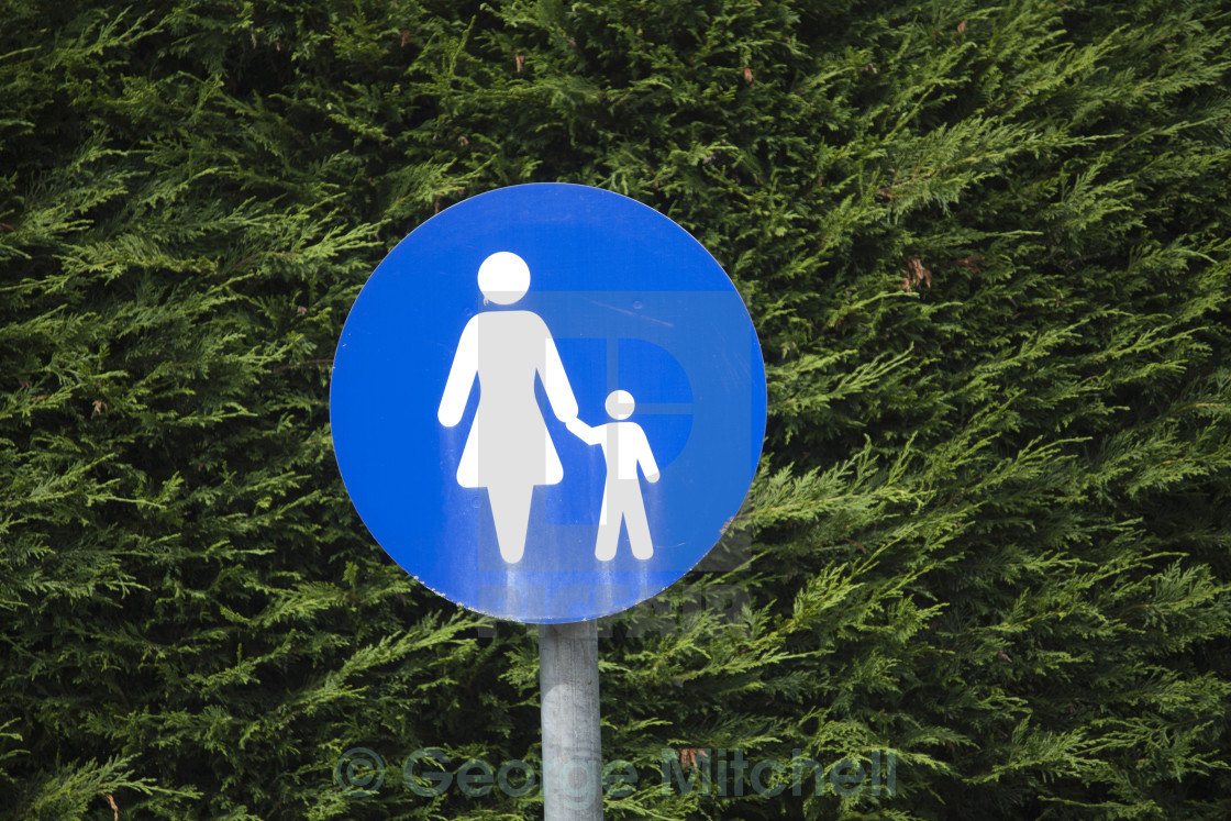 """Mother and Infant Parking Sign"" stock image"