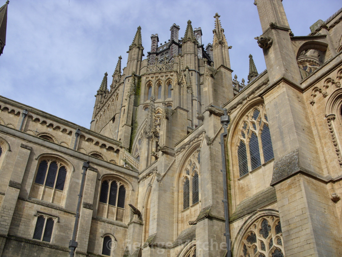 """View of Ely Cathedral"" stock image"