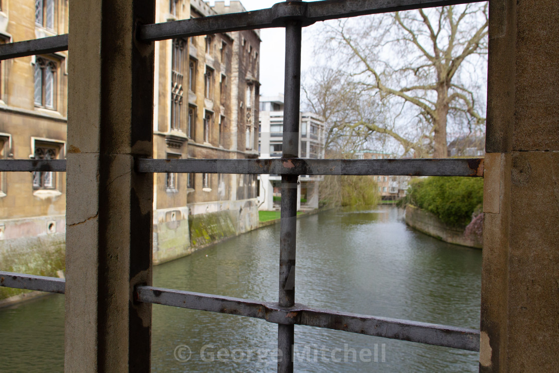 """River Cam from Bridge of Sighs"" stock image"