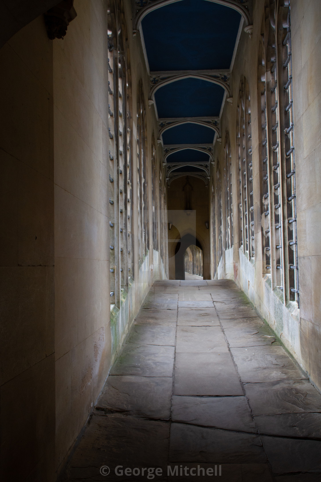 """View across the Bridge of Sighs, St. Johns College, Cambridge"" stock image"