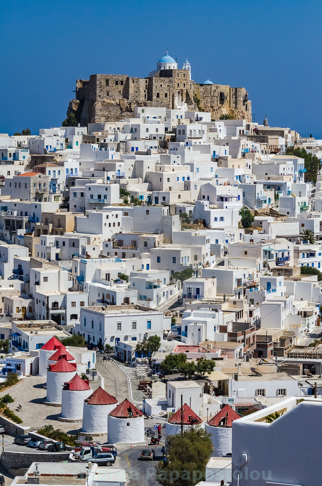 """The Chora of Astypalaia island"" stock image"