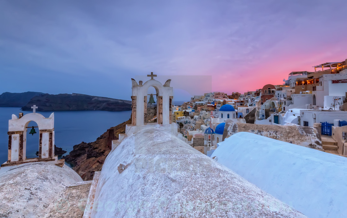 """Oia Santorini sunset"" stock image"