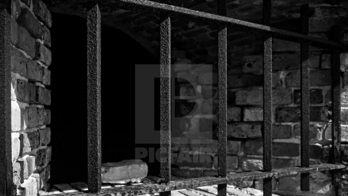"""Through the bars 2"" stock image"
