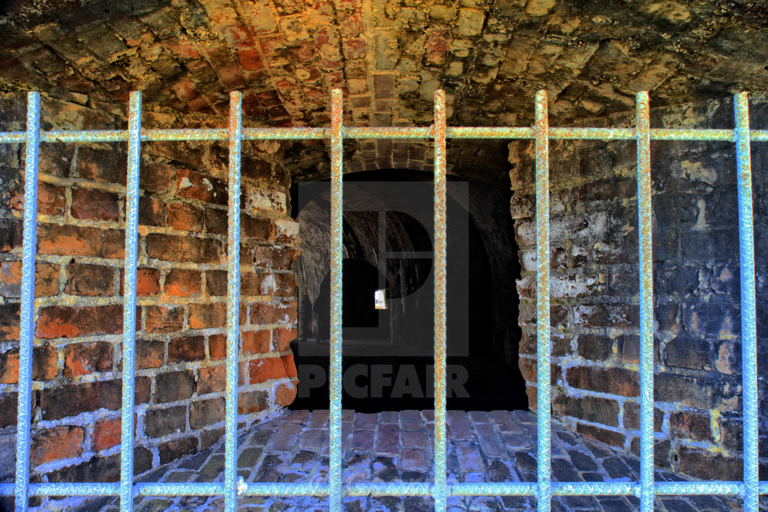 """Through the bars"" stock image"