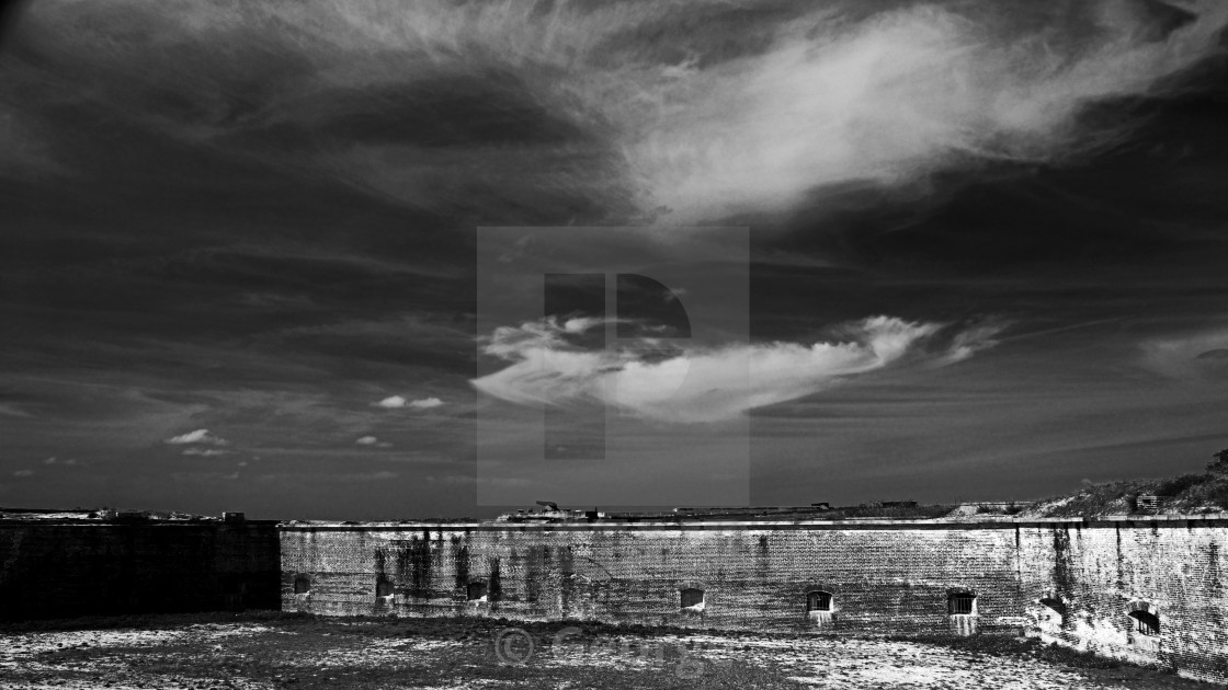 """Ft. Pickens Sky"" stock image"