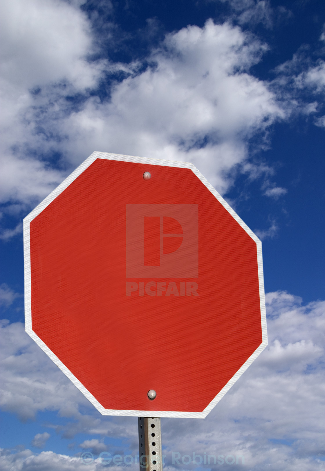 Blank stop sign  - License, download or print for £12 40