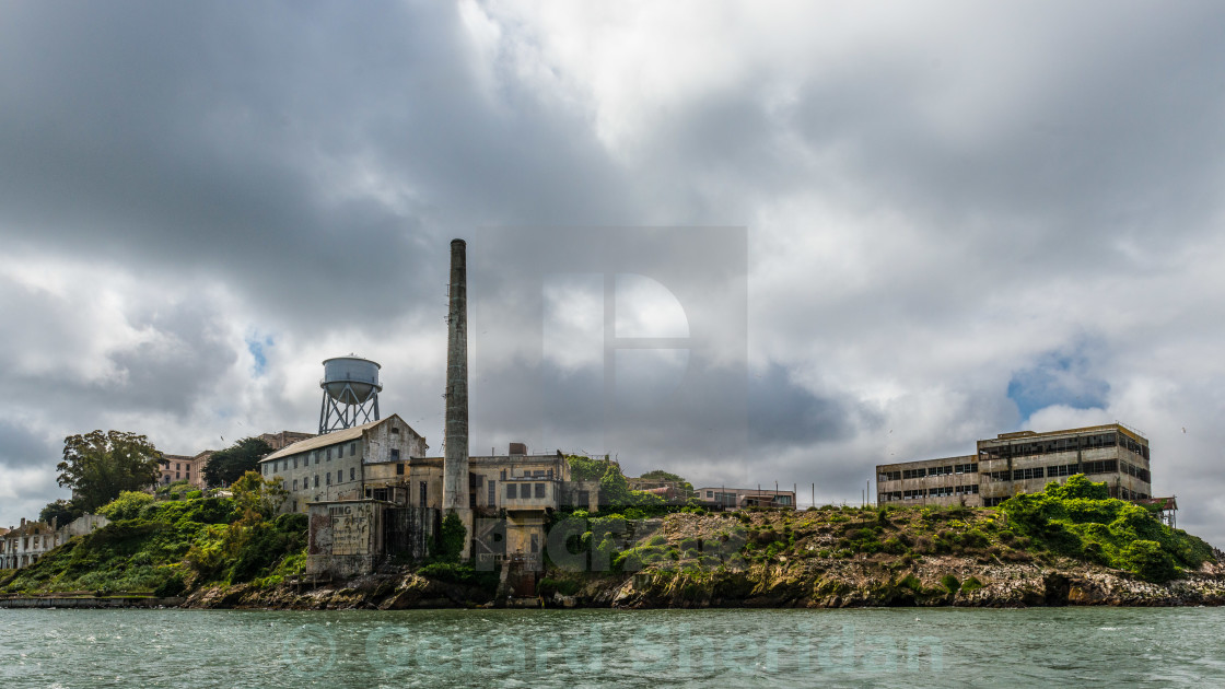 """Alcatraz Island, San Francisco Bay"" stock image"
