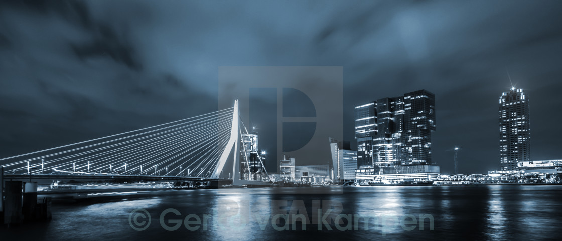 """Rotterdam in Blue"" stock image"